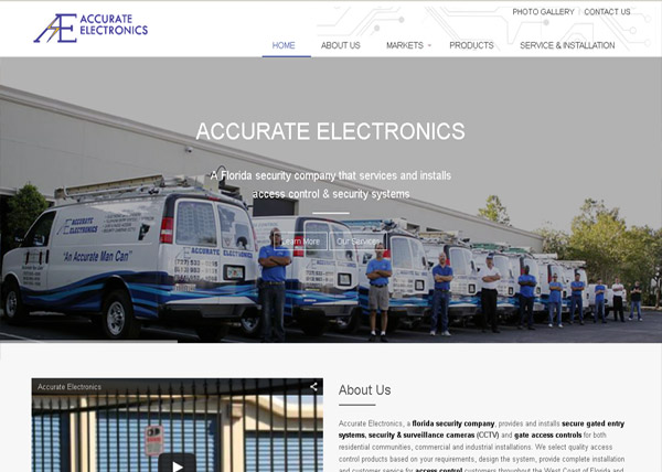 Accurate Electronics Website
