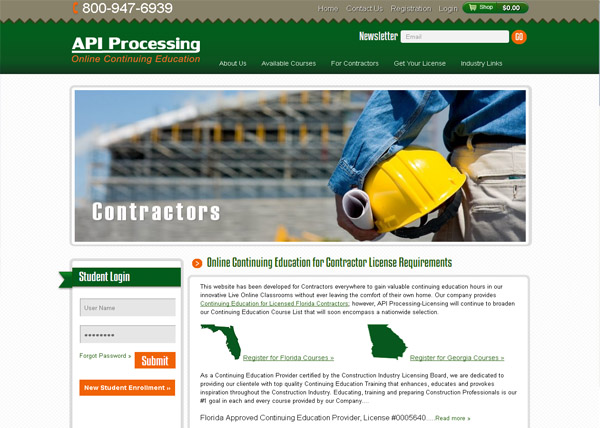 API Continuing Education Website