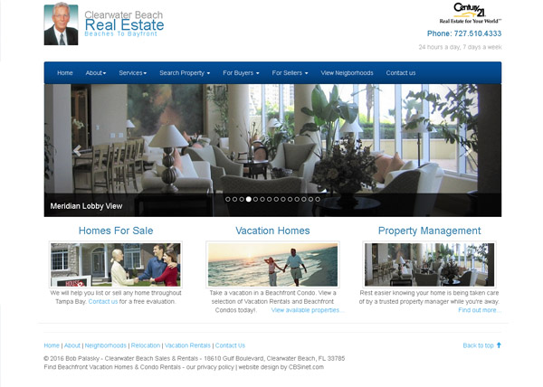 Clearwater Beach Sales Website
