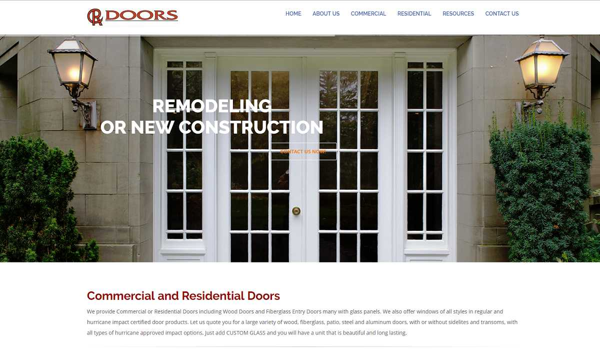 CR Doors Website