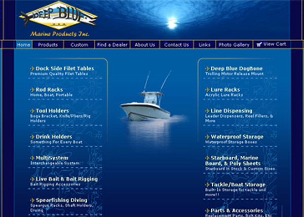 Deep Blue Marine Website