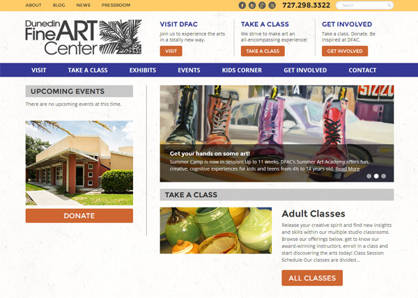 Dunedin Fine Arts Center Website