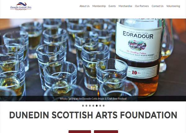 Dunedin Scottish Arts Foundation Website