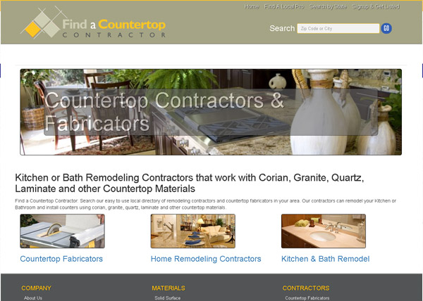 Find A Countertop Contractor Website