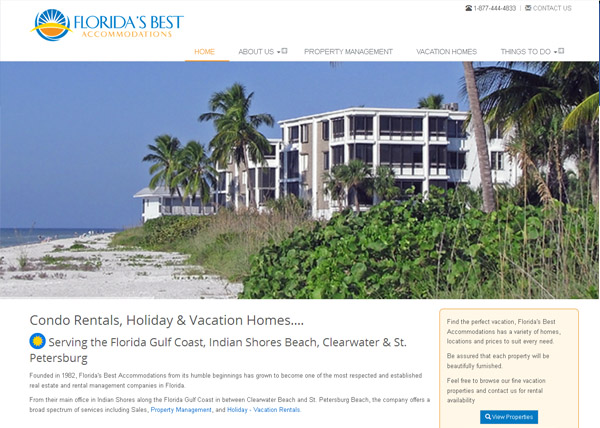 Florida's Best Accommodations Website