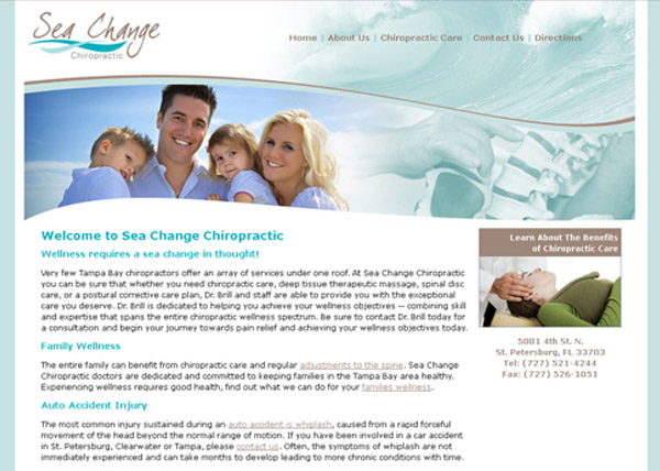 Sea Change Chiropractic Website