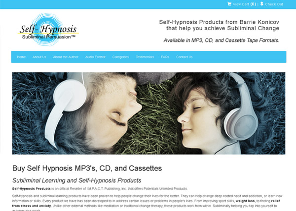 Self-Hypnosis Products Wesbite