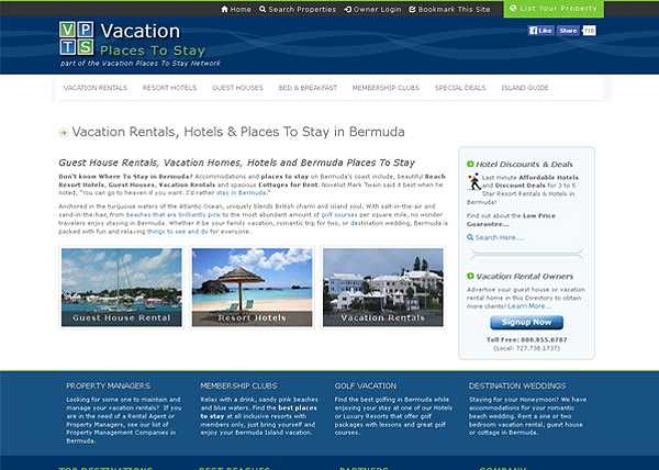 Vacation Places to Stay - Bermuda Website