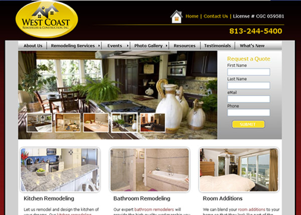 West Coast Remodelers Website